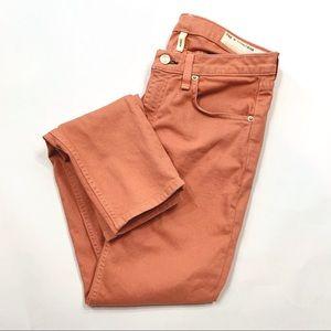 rag & bone colored dusty rose skinny jeans